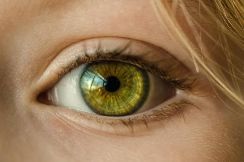 Stock photo of a close-up human eye