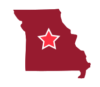 Map image of Central Missouri