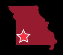 Map image of Southwest Missouri