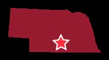 Map image of South Central Nebraska