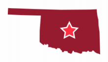 Map image of Central Oklahoma