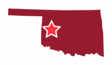 Map image of West Central Oklahoma