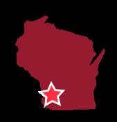 Map image of Southwest Wisconsin